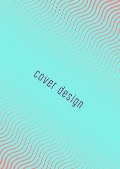 Abstrakte abdeckung. futuristische geometrische vorlage für banner, poster, flyer, broschüre. minimales trendiges layout mit halbtonverläufen. abstrakte abbildung env 10. minimalistisches buntes cover.