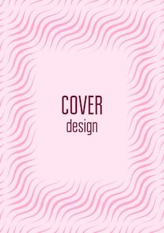 Abstrakte abdeckung. minimaler trendiger vektor mit halbtonverläufen. geometrische zukunftsvorlage für flyer, poster, broschüren und einladungen. minimalistisches buntes cover. abstrakte abbildung env 10.
