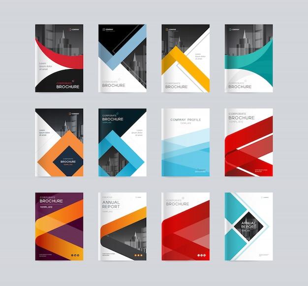 Abstrakte abdeckungsdesign-hintergrundschablone für firmenprofil