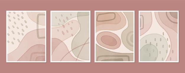 Abstrakte abdeckungsschablonensammlung mit organischen formen