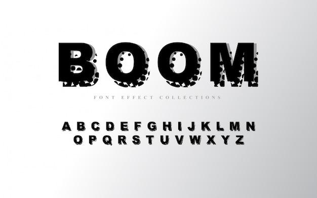 Abstrakte alphabet schriftvorlage