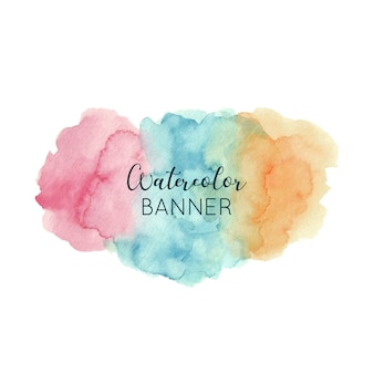 Abstrakte aquarell banner