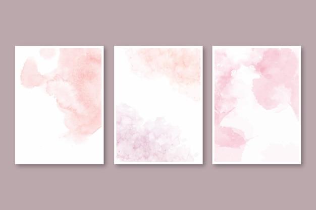 Abstrakte aquarell-cover-kollektion
