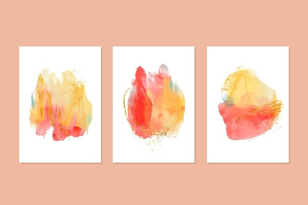 Abstrakte aquarell deckt sammlung