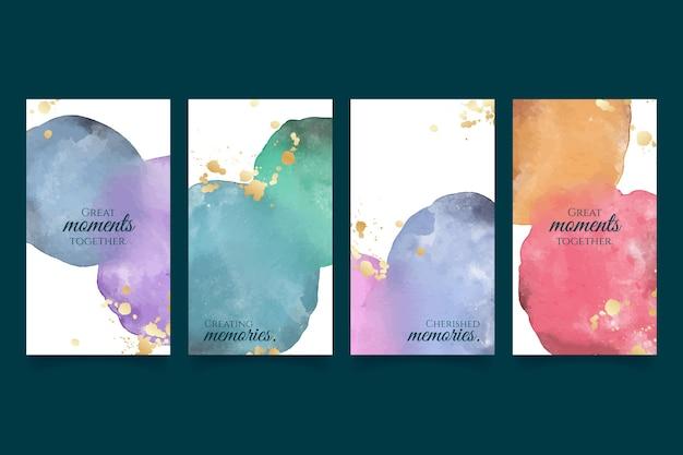 Abstrakte aquarell-instagram-geschichten