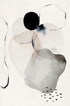 Abstrakte aquarell kreise wandkunstdruck