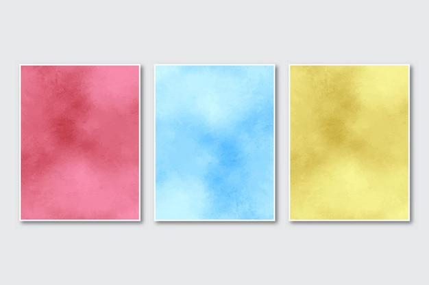 Abstrakte aquarell-schattierungspinsel-textur