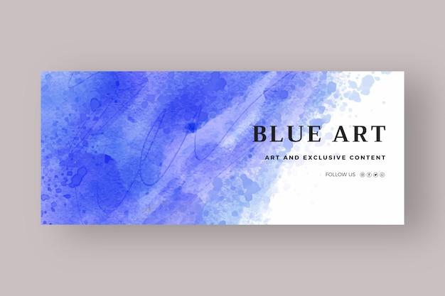 Abstrakte aquarell-social-media-cover-vorlage