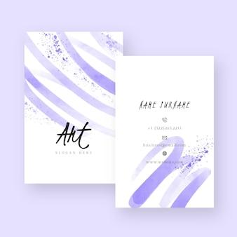 Abstrakte aquarell-visitenkartenvorlage