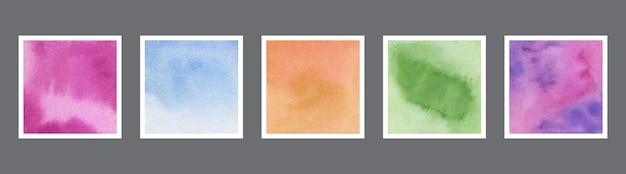 Abstrakte aquarellbeschaffenheitssammlung