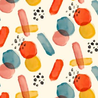 Abstrakte aquarellblumenmuster