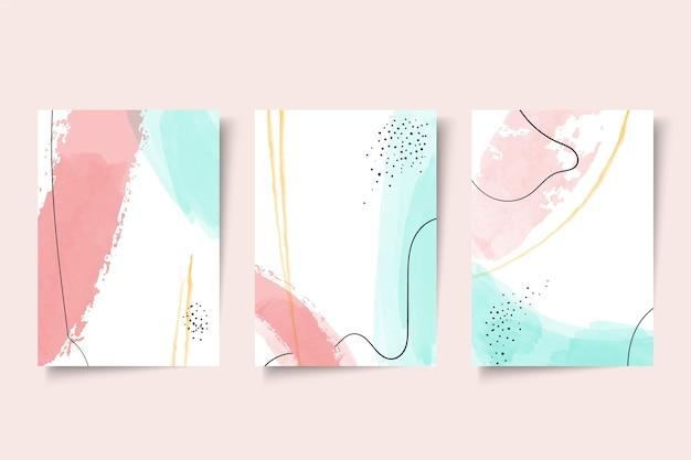Abstrakte aquarellformen decken sammlung ab