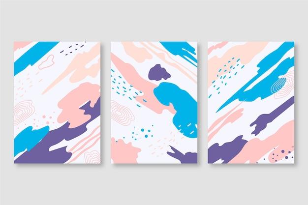 Abstrakte aquarellformen deckt sammlung ab
