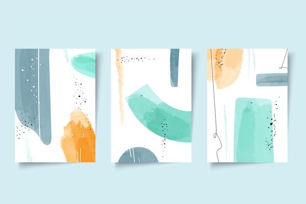Abstrakte aquarellformen deckt satz ab