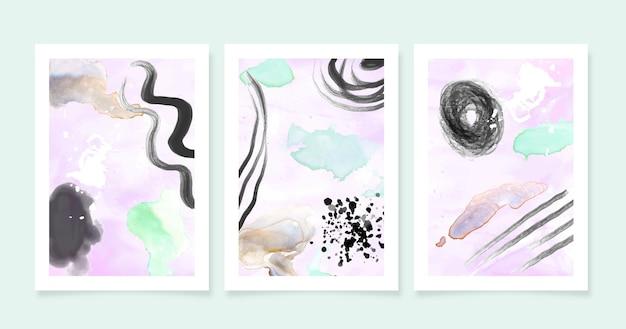 Abstrakte aquarellformenabdeckungen