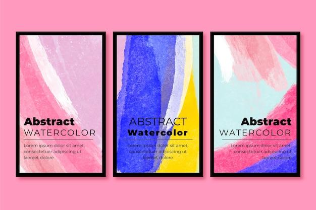 Abstrakte aquarellkarten-sammlung