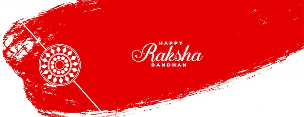 Abstrakte art raksha bandhan indischen festival banner