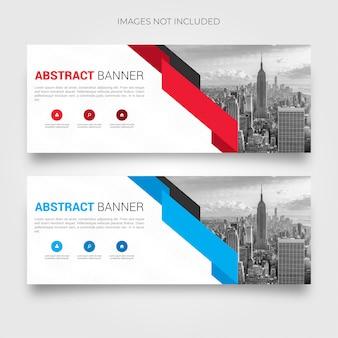 Abstrakte banner-sammlung