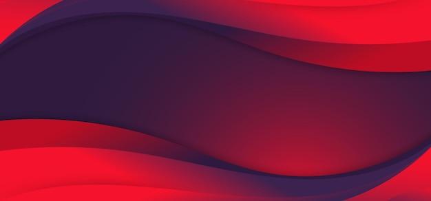 Abstrakte banner-web-vorlage blau und rot lebendige farbe flüssige wellenform modernen hintergrund. vektor-illustration