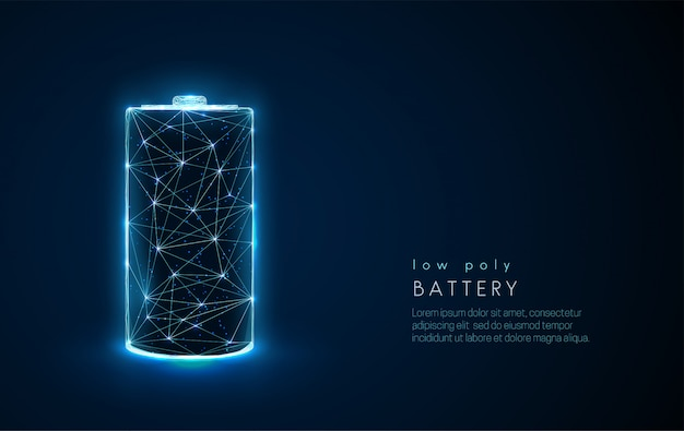 Abstrakte batterie-symbol