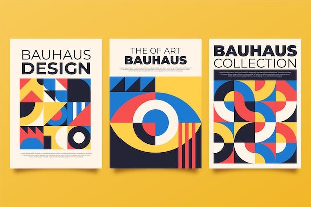 Abstrakte bauhaus-cover-kollektion
