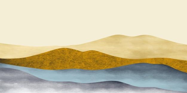 Abstrakte berglandschaft, natürlicher landschaftshintergrund. kreativer minimalist.