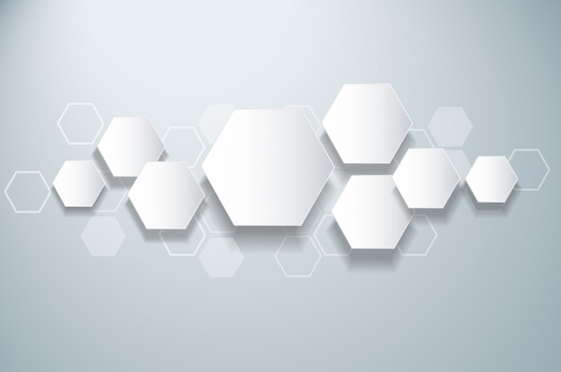 Abstrakte biene bienenstock design hexagon hintergrund
