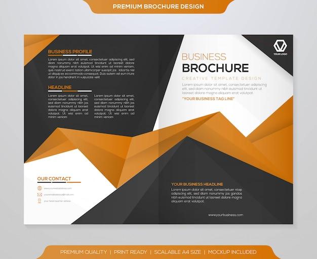 Abstrakte bifold broschüre vorlage vektor