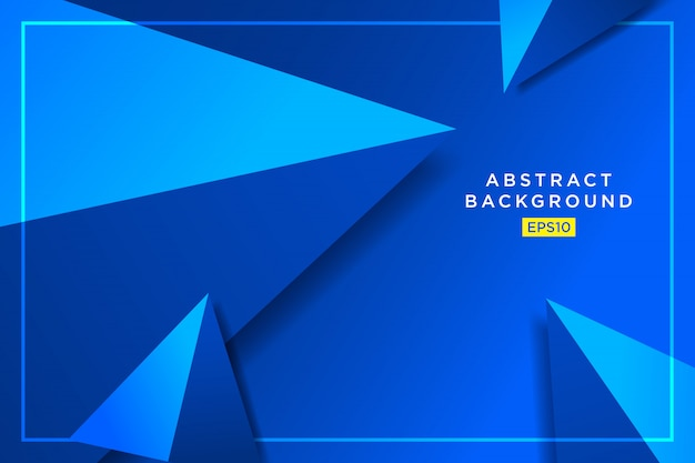 Abstrakte blaue futuristische grafik des dreieckhippies 3d