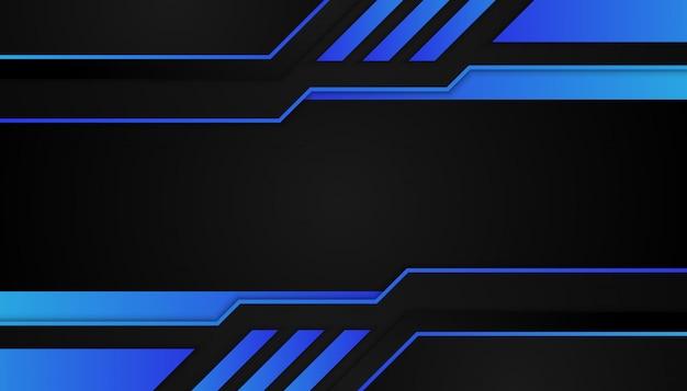 Abstrakte blaue geometrische formen auf dunklem hintergrund