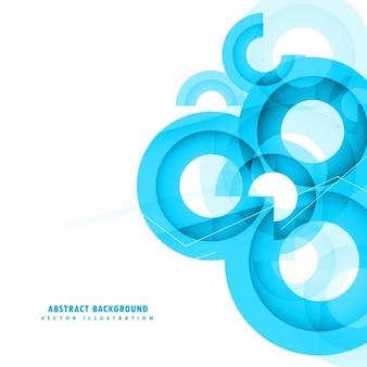 Abstrakte blaue kreise hintergrund design Kostenlosen Vektoren