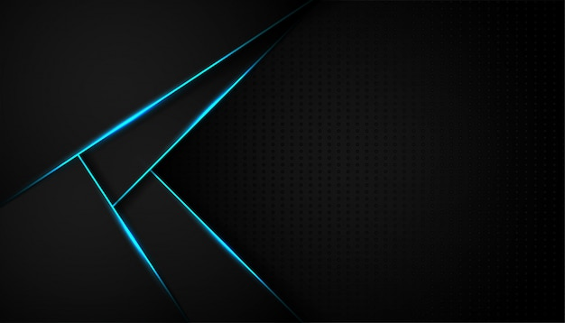 Abstrakte blaue lichtlinie auf schwarzem hintergrund