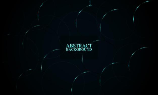 Abstrakte blaue neonkreise hintergrund vektor-illustration