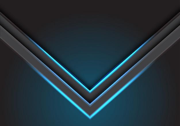 Abstrakte blaue pfeillichtschattenrichtung auf moderne futuristische technologiehintergrund-vektorillustration des leerdesigns.
