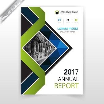 Abstrakte blaue polygonale broschüre vorlage