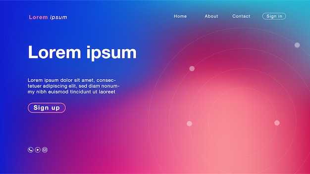 Abstrakte blaue purpurrote kreisfarbe des hintergrundes für homepage