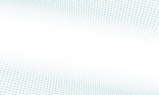 Abstrakte blaue rasterlinien perspektive auf weißem hintergrund. gestaltung für ihre präsentation.