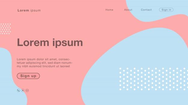 Abstrakte blaue rosa pastellkurvenfarbe des hintergrundes für homepage