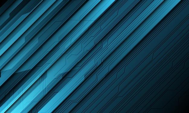 Abstrakte blaue technologie cyber circuit line schatten schrägstrich design moderne futuristische hintergrundillustration.