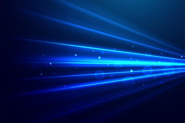 Abstrakte blaue technologie strahlt hintergrund aus