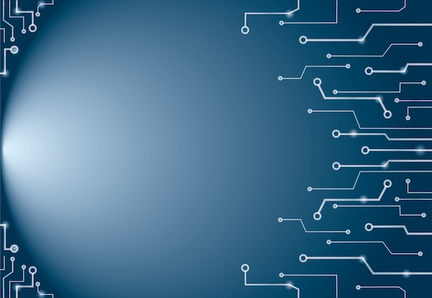 Abstrakte blaue technologie zeichnet hintergrund