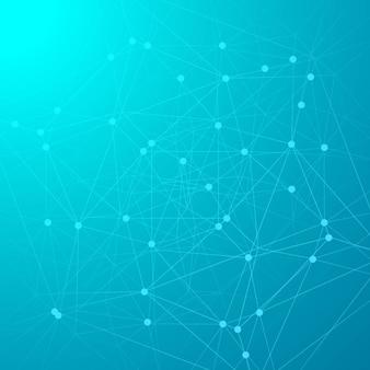 Abstrakte blaue Technologiehintergrund-Designillustration