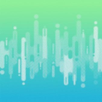 Abstrakte blaue und grüne farbe gerundete formen