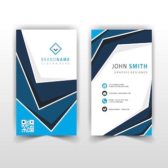 Abstrakte blaue vertikale visitenkarte