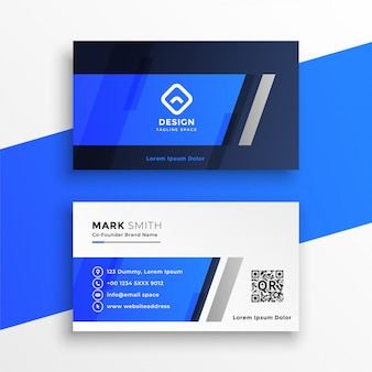 Abstrakte blaue visitenkarte