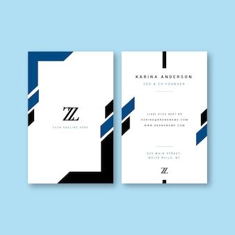 Abstrakte blaue visitenkarteschablone