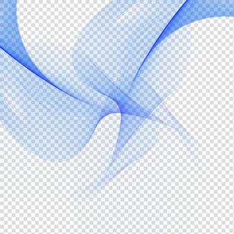 Abstrakte blaue welle-design auf transparentem hintergrund
