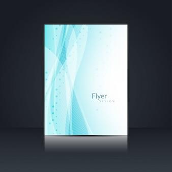 Abstrakte blaue welle stil flyer design