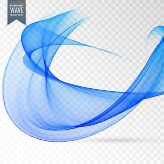 Abstrakte blaue welle transparente effekt hintergrund