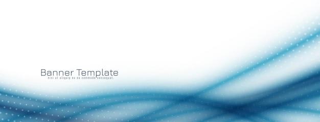 Abstrakte blaue wellenfahnenschablone